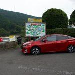 野村ダムでプリウスphvと低炭素社会の実現について叫ぶ!!!